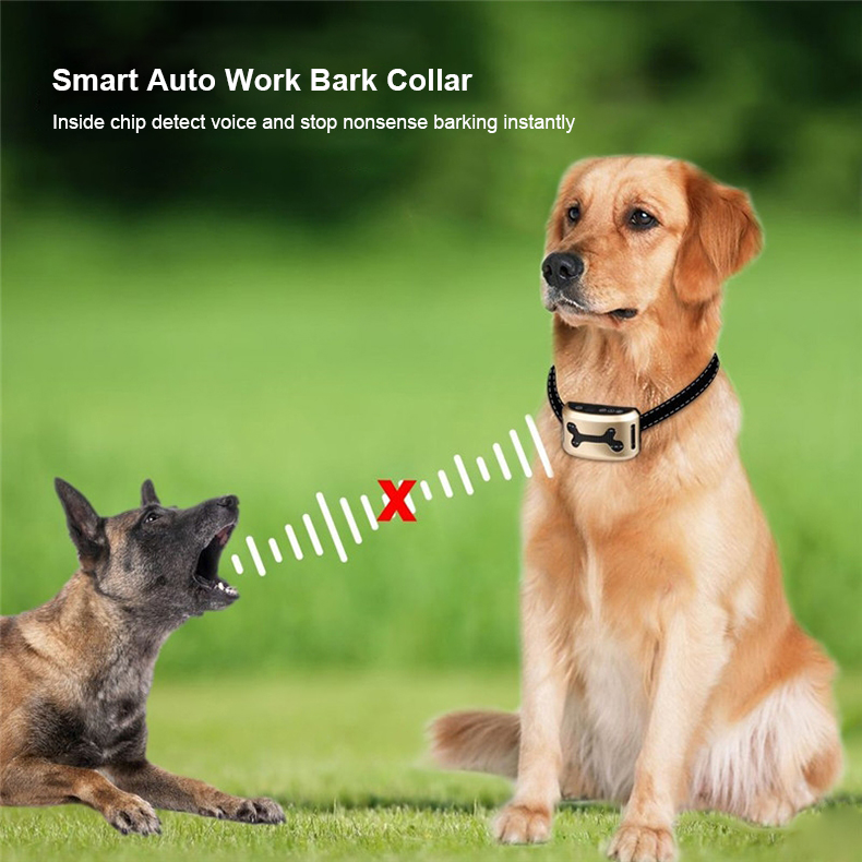 2018 Small Pet Electronic Dog Bark Stop Trainer Shock Control No Bark Dog Collar