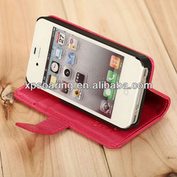 for iphone 4 ultra-thin credit card leather case