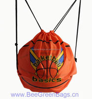 Hot Cheap 210D Polyester 2014 new design basketball drawstring bags sport drawstring bag