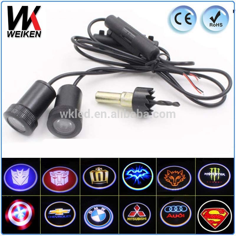 Car Led Laser Projector Logo Ghost Courtesy Door Step LED Light for All Cars with Car Brand Logo