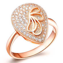 Fashionable Zircon Cubic Micro Pave Czech Ring