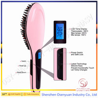 2016 Factory Price Best Quality Digital Hair Straightener Brush with Auto Shut-off HairStraightening