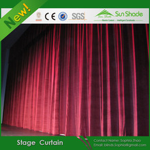 Motorized/Automatic Flame Retardant Velvet Wedding Stage Curtain With Curtain Track