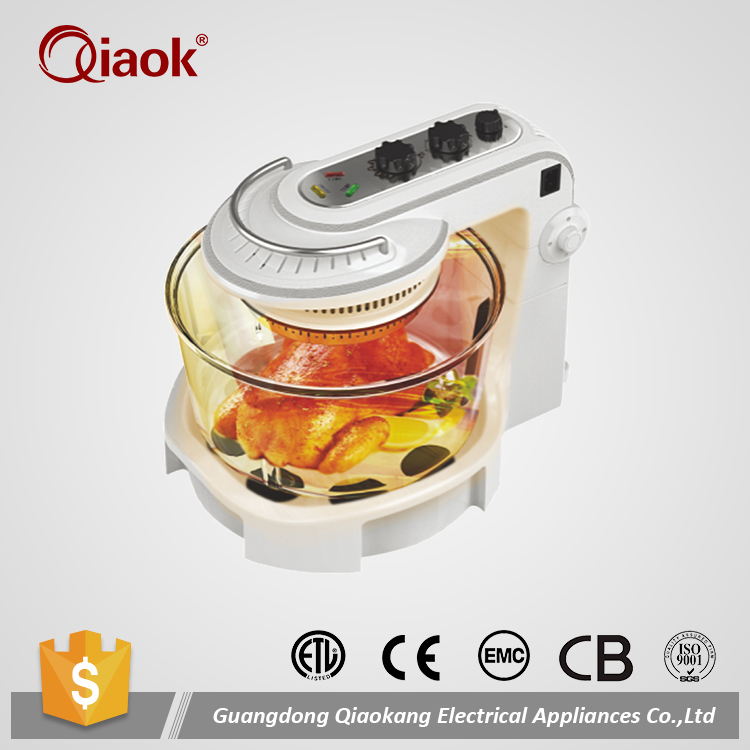 Transparent Glass Bowl Halogen Convection Oven Mini Turbo Wave Oven