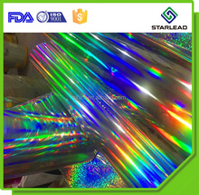 Seamless Rainbow Film Light Pillar Pattern BOPP PET Holographic Cold Lamination Film