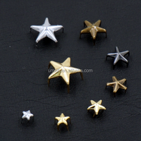 High quality shiny decoration star shape metal brass studs for leather jacket