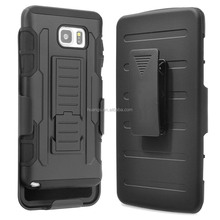 Fashion Belt Clip shockproof dual layer pc silicone case phone case for samsung galaxy note 5 paypal accept