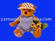 sweetheart plush teddy bear toys wearing handsome garment