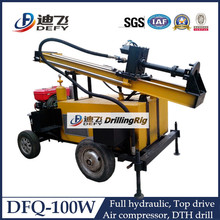 0-100m Top Drive Pneumatic Water Well Drill Machine