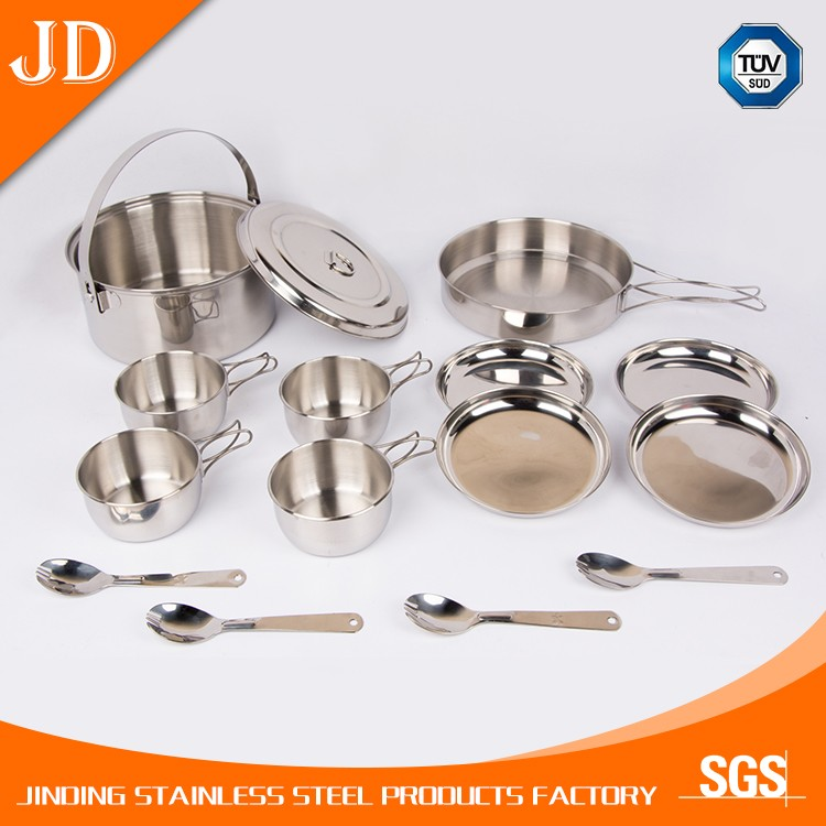 Practical Stainless Steel Travel Cooking Set / Camping Cookware