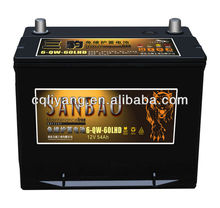 Auto dry charged battery for car and truck manufacturer