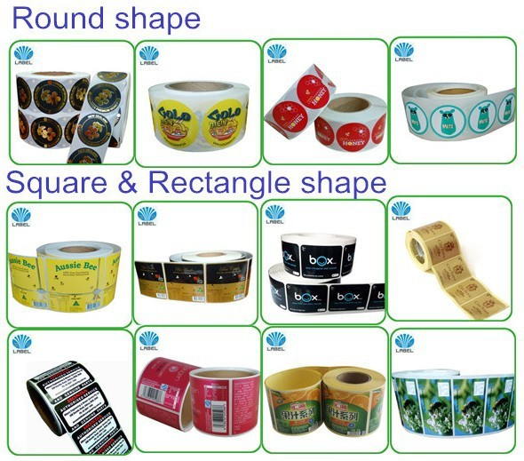 Professional China company label maker plastic bottle,different vinyl  material adhesive labels