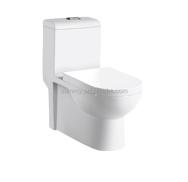 Australian style one piece siphonic color bathroom toilet used in home SC175