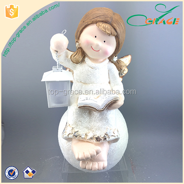 Wholesale Custom Life Size 3D Decoration Outdoor Lighted Christmas Angel On Ball