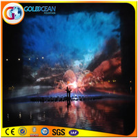 Fashionable Water Screen Laser Show Fountain Water Movie For Lake