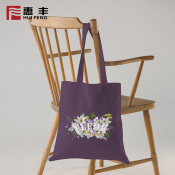 China Manufacturer Wholesale Custom Plain Cotton Shopping Tote Bag