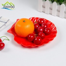 FOOYOO FY-7233 flower shaped colorful plastic party fruit plate