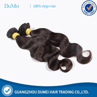 Dumei factory natural black human hair body wave 12 14 16 18 virgin indian hair