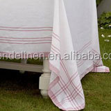 stripes nature linen table cloth table cover napkin placemat