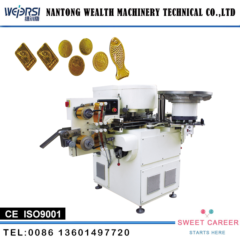 Hot Sale YQ-I Automatic Golden Coin Chocolate Wrapping Machine With CE