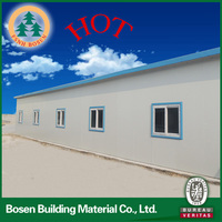 china supplier prefabricated light steel frame house prefab house