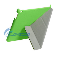 Top Sale 3 Folding Ultra Slim PU Leather Stand Case For APPLE iPad