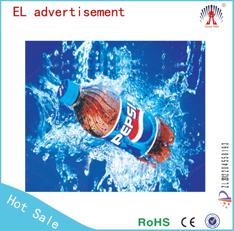 top quality flashing led panel el animation advertising a4 advertising poster
