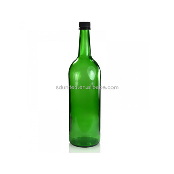 High quality 750ml green wine bottle with cap