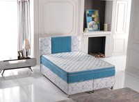 Upholstered Mattress Bed Set Lotus