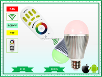 Mi.Light 2.4G RGBW led wifi bulbs E27/E26/B22 led bulbs with CE RoHs certificates