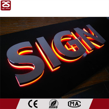 Factory direct sale outdoor 3D illuminated sign backlit stainless steel led signage