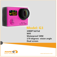 Hot action camera 1080P wifi sports recorder with waterproof case and remote control