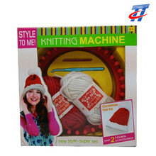 kids Christmas gift DIY knitting machine make Christmas hat