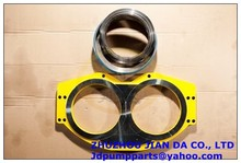 hardfacing type DURO 11 PM DN200 wear plate concrete pump accessories