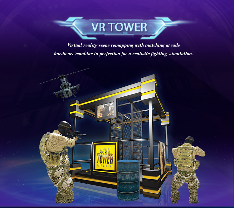 JAMMA New Product Big Space Walker VR Tower Simulator With Gun Shooting VR Manufacturer