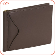 Genuine leather men's money clip wallet
