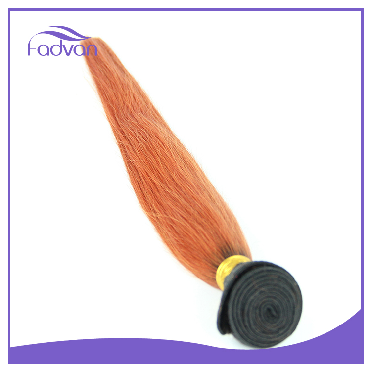Most popular double drawn hair extension wholesale price orange hair weave
