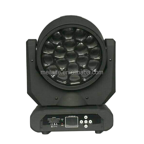 19*15W RGBW bee eye 2015 new led moving head light