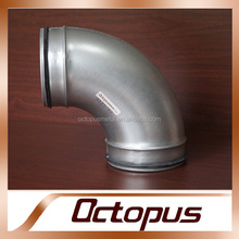 gi pipe fitting bend 45 degree Galvanized Spiral Fittings dimensions Bend