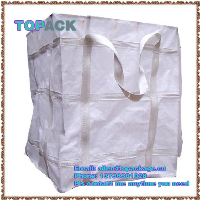 1 ton scrap jumbo bag with cross loops and spouts