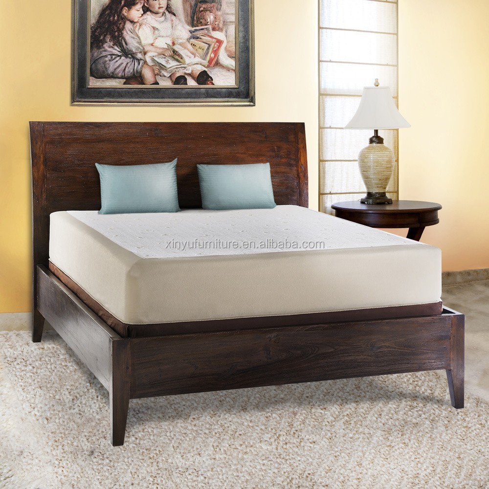 Hot sale solid oak wood bedroom bed latest double bed designs modern bedroom furniture XYN1714