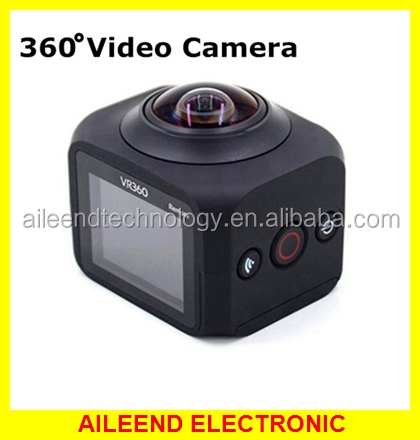 With Remote Control 8MP 1080P HD Sports Action Camera 1.5 inch Screen 360 Degree Panoramic Camera