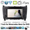 7 inch Android 4.4 GPS navigation Car DVD Radio for Mercedes C Class support TV CD 3G/wifi car mp5 player