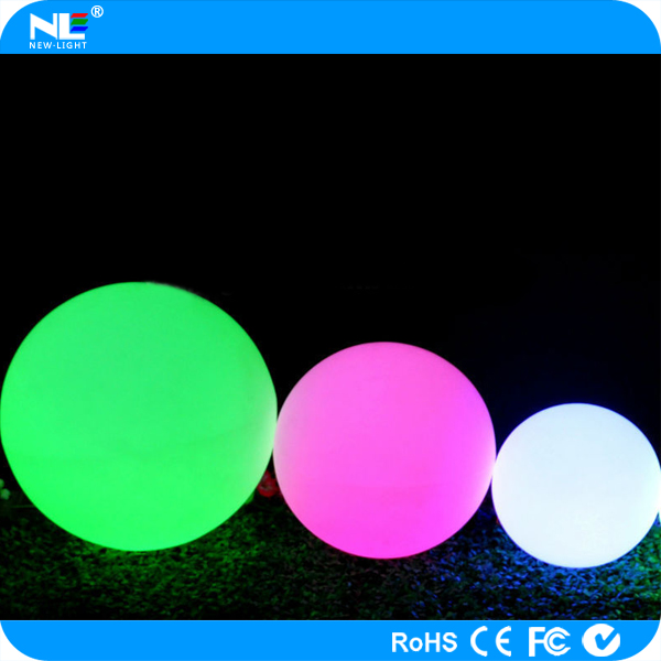 Christmas decorative LED floating light ball / waterproof RGB LED glowing light ball