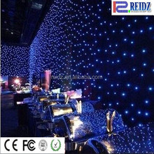 Flexible indoor for weddingstage backdrop led star ceiling cloth