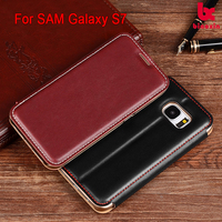 China phone case for Samsung galaxy S7 Sewing leather case , for Samsung galaxy S7 PU leather case cover