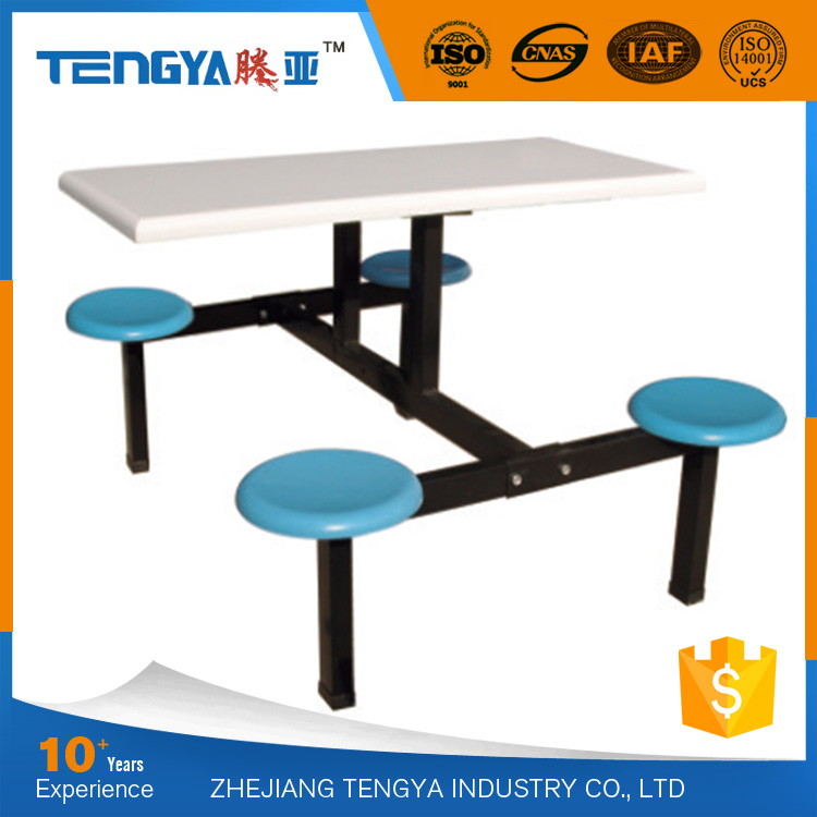 Tengya Restaurant School Cheap Dining Table and 4 Chairs