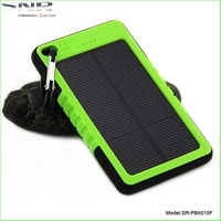 2015 New Solar Mobile Phone Charger 5000mah Solar waterproof power bank