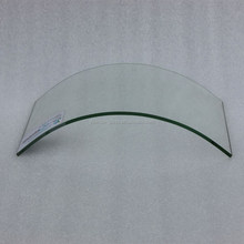 Curved tempered color laminated glass for commercial building