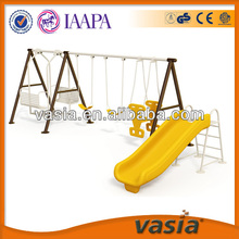 Children two seat swing play equipment